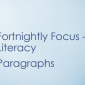 Literacy – Paragraphs